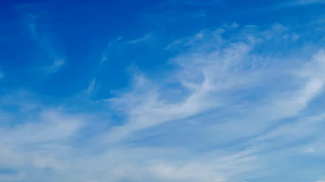vídeos de stock, filmes e b-roll de limpar nuvem, um céu azul-vídeo do acervo - cirro
