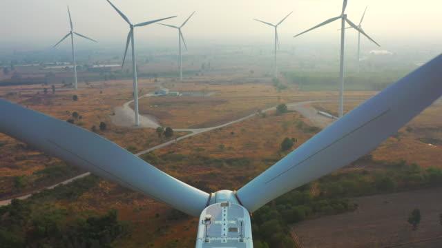 Clean Energy Winds Turbine Aerial view Wind Turbine, Wind Power, Alternative Energy, UK, Fuel and Power Generation renewable energy stock videos & royalty-free footage