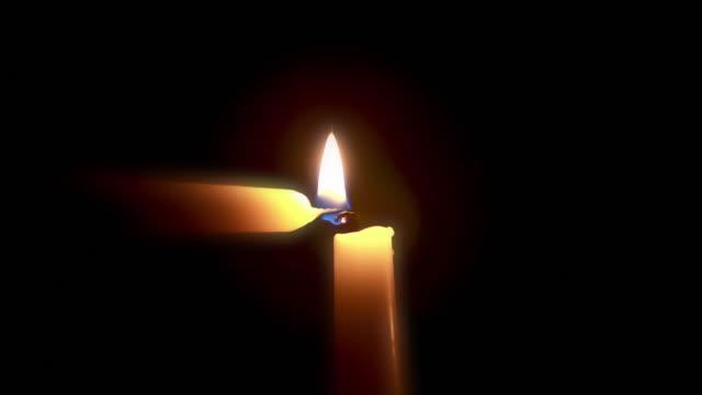 깨끗하다 hd-조명 캔들 - 촛불 조명 장비 스톡 비디오 및 b-롤 화면