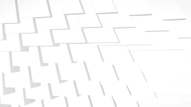 Clean white looping background with rotating triangles. Modern look White abstract triangular background in 3D and 4K resolution twisted stock videos & royalty-free footage