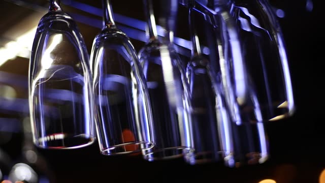 clean wine glasses