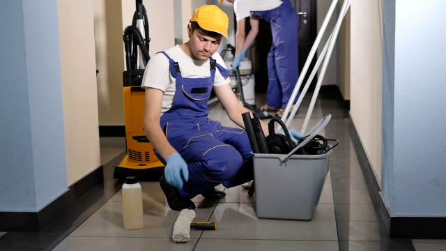 Cleaners collect your inventory. video