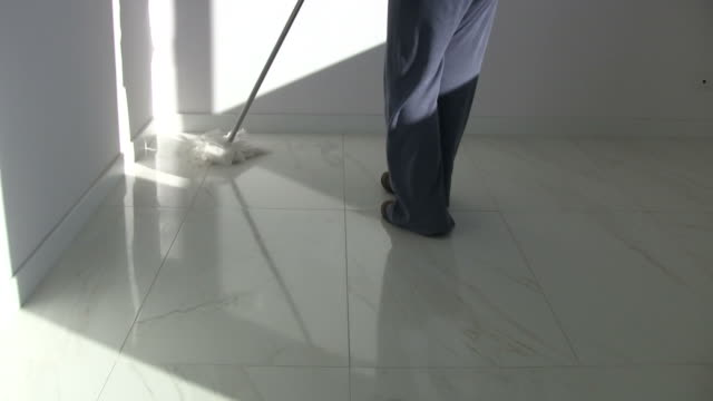 Cleaning at home with mop video