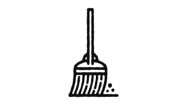 vídeos y material grabado en eventos de stock de limpieza de imágenes de animación de iconos & canal alfa - tareas domésticas