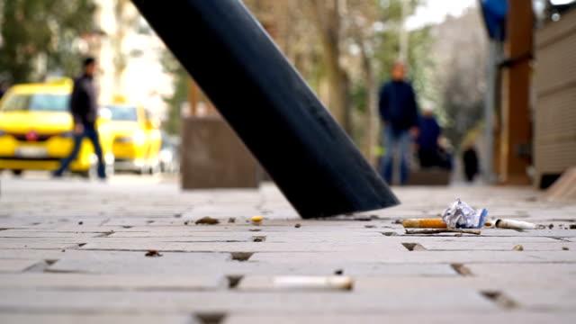 cleaning street with vacuum cleaner - пешеходная дорожка путь сообщения стоковые видео и кадры b-roll