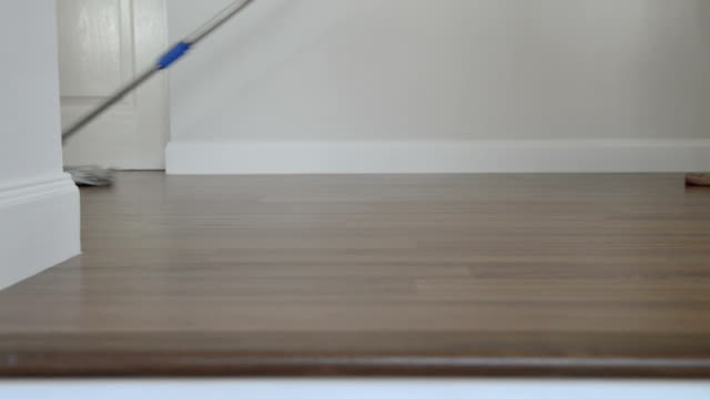 cleaning the floor video