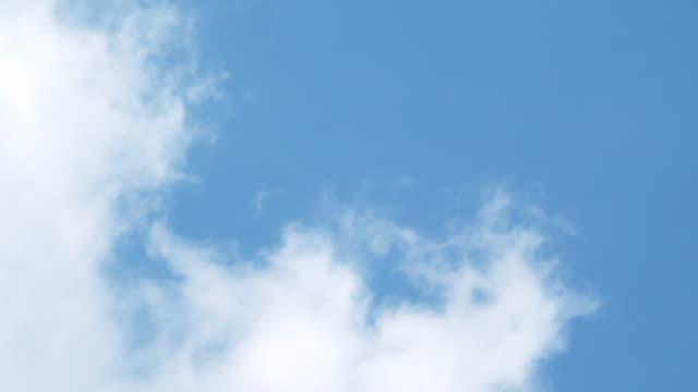 vídeos de stock, filmes e b-roll de céu azul desobstruído com nuvem - só céu