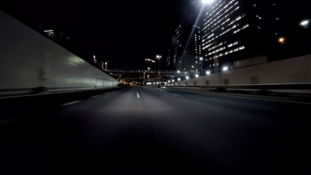 Clear drive through the empty Bayshore Freeway. video
