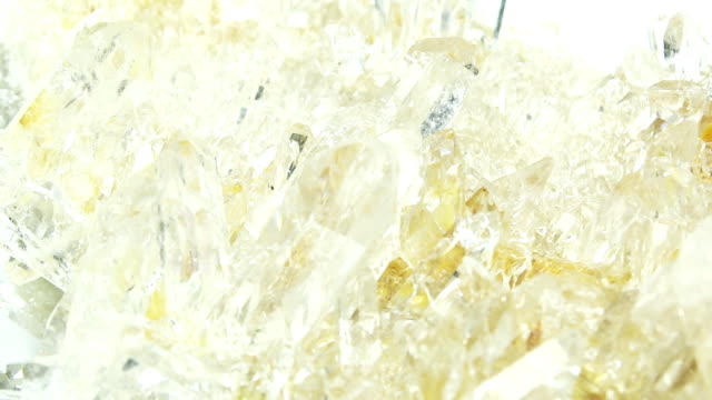 clear rock crystal quartz geode geological crystals video