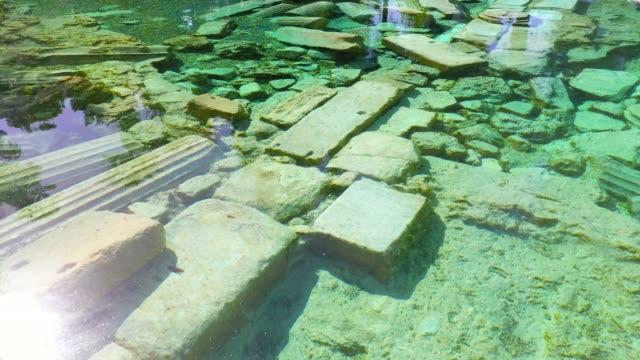 cleopatras gamla pool. - anatolien bildbanksvideor och videomaterial från bakom kulisserna