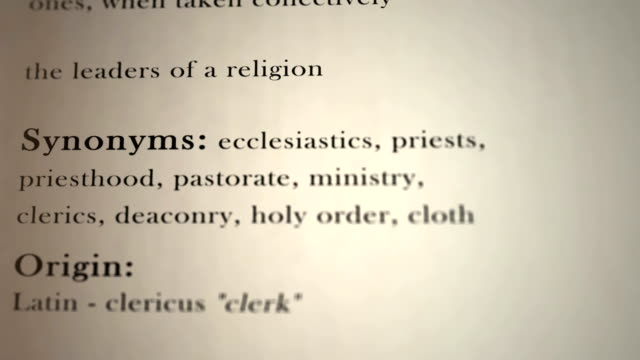 Clergy Definition
