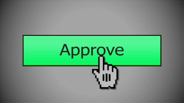Clicking an Approve Button Mouse Click video