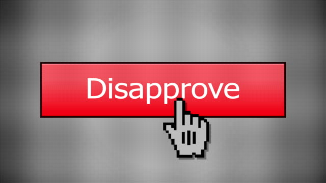 Clicking an Disapprove Button Mouse Click video