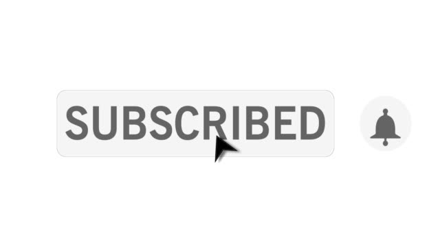 clicking on subscribe button on white background animation. mouse pointer, arrow clicking subscription button with bell notification icon. joining social media account, email, newsletter distribution - newsletter video stock e b–roll
