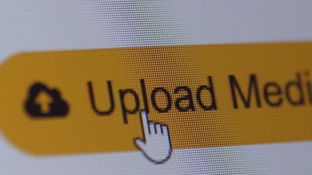 en cliquant sur bouton de médias nouveaux upload, macro - Vidéo