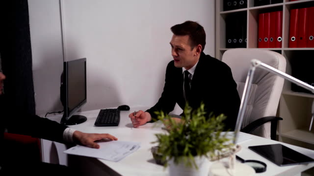 Client reject manager's offer and tears up and terminate the contract video
