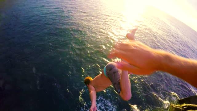 POV Cliff Jumping Backflip