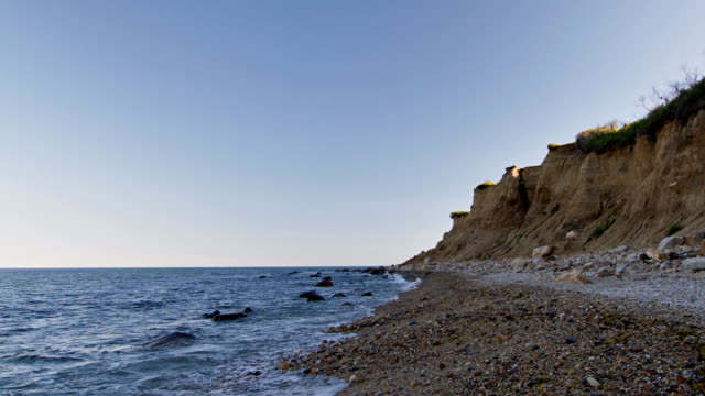 Cliff, sea, and shore video