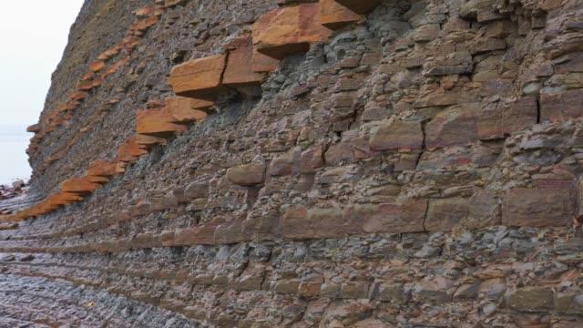 Cliff - sedimentary rock wall