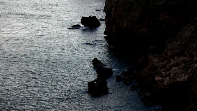 Cliffs and Mediterranean sea