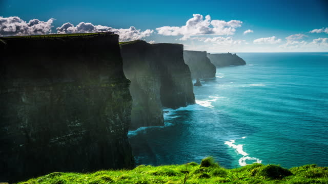 Cliffs of moher, county clare, wild atlantic way route, ireland video