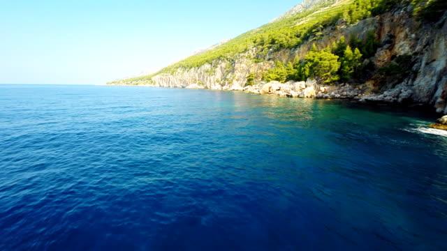 AERIAL Cliffs On Island Hvar video