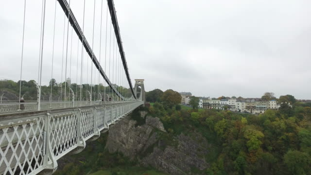 Clifton suspension bridge in Bristol video