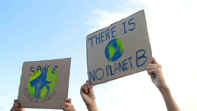 climate change and global warming protest - clima video stock e b–roll