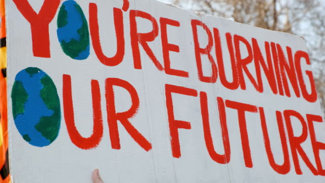 Climate Change Extinction Rebellion Demonstration in London, UK