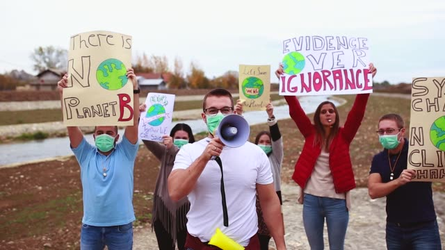 climate change protest - clima video stock e b–roll