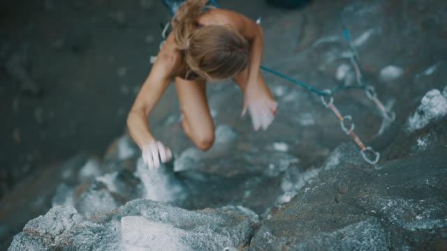 Climber taking a fall