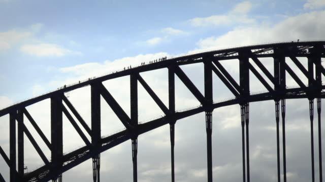 Climbers on the Sydney Habour Bridge video