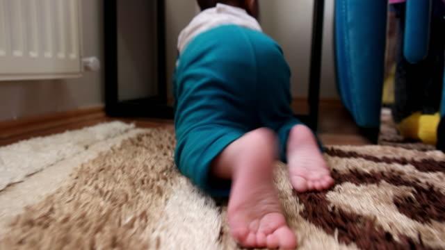 Climbing baby video