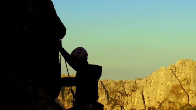 HD: Climbing On A Steep Cliff video