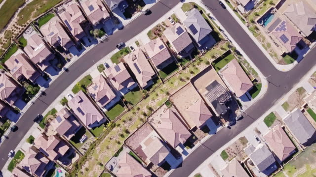 Climbing Rotating Aerial View of Suburban Homes video