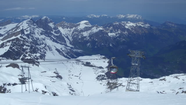 climbing up to Titlis from Engelberg