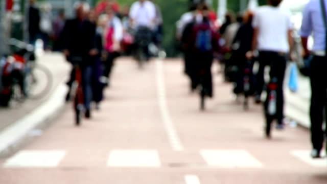 の HD クリップの自転車通勤者 ビデオ