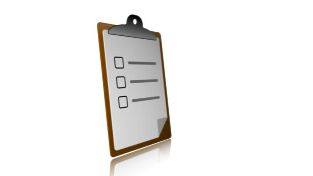 stockvideo's en b-roll-footage met clipboard 01 ticks - checklist