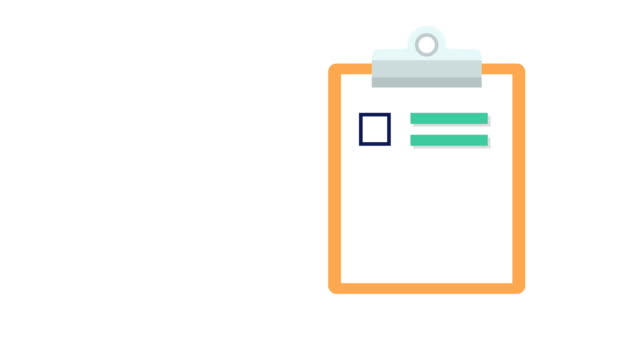 Clipboard with white document paper with a list of tick checkmarks Animation of a  clipboard with document paper listing and adding tick checkmarks flying in from the left and flying out to the right survey icon stock videos & royalty-free footage
