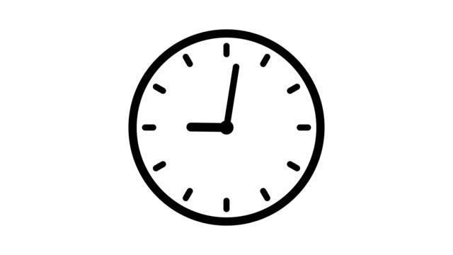 オプションのルミナンスマットを使用した12時間ループアニメーションのクロックアニメーション。アルファルママットが付属しています。4kビデオ - 時計点の映像素材/bロール
