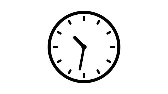 옵션 루마 매트와 12 시간 루프 애니메이션시계 애니메이션. 알파 루마 매트 포함. 4k 비디오 - clock 스톡 비디오 및 b-롤 화면