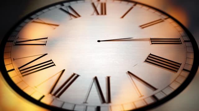 時計のアニメーション シリーズ - 燃焼時計コンセプト - 不吉点の映像素材/bロール
