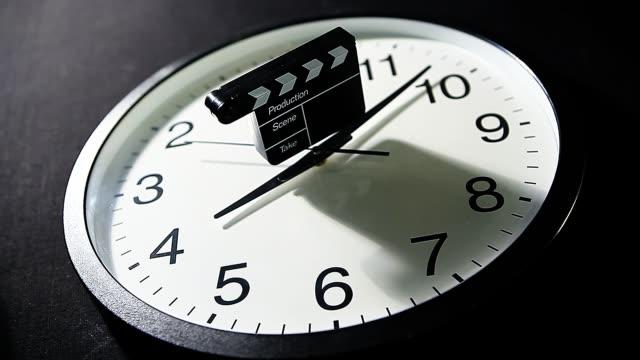 clock clapper board dark background nobody hd footage