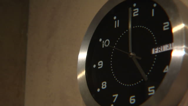 Clock Close Up 15 seconds to 5 Friday 1080p HD​ video