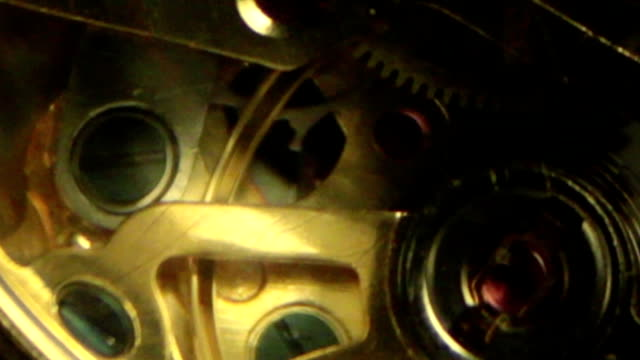 Clock Detail - Inside Slow Motion C video