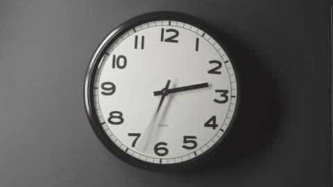 clock face 1,5 närbild i tid förfaller på vägg - dag bildbanksvideor och videomaterial från bakom kulisserna
