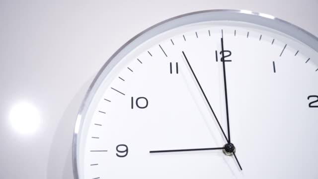 Clock face at 09.00