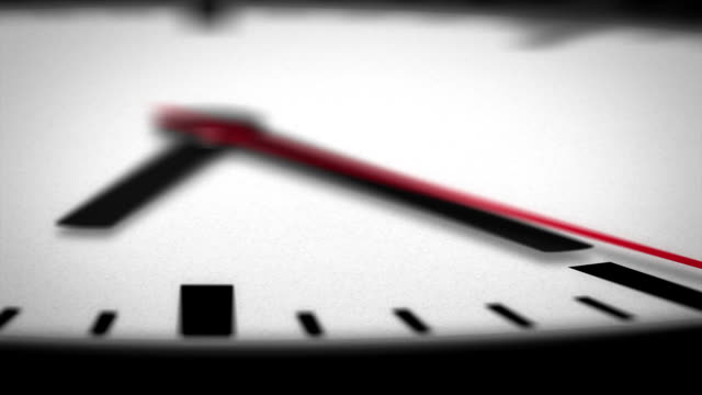 HD Clock Face Macro Angle of Second Hand video