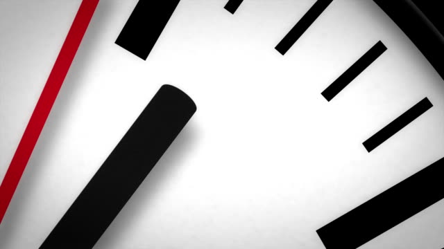 HD Clock Face Macro Moving Second Hand video