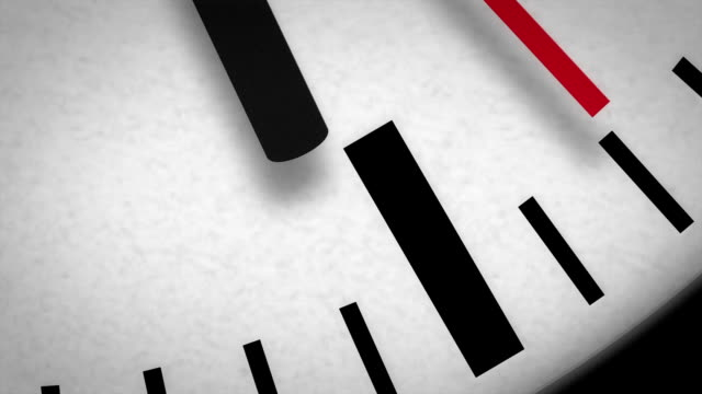 HD Clock Face Macro Second Hand Moving video